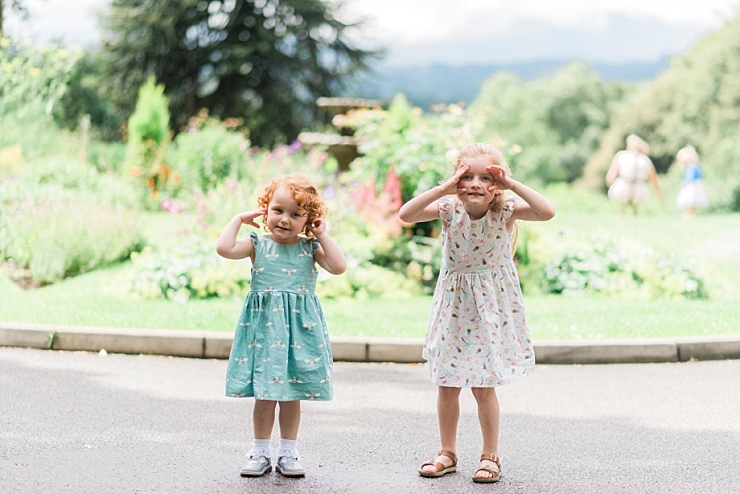 little girls at wedding in lakes