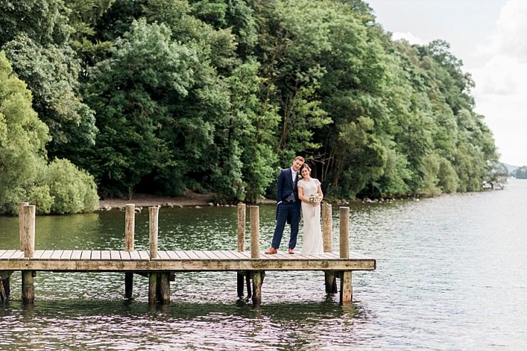 wedding photos on pier