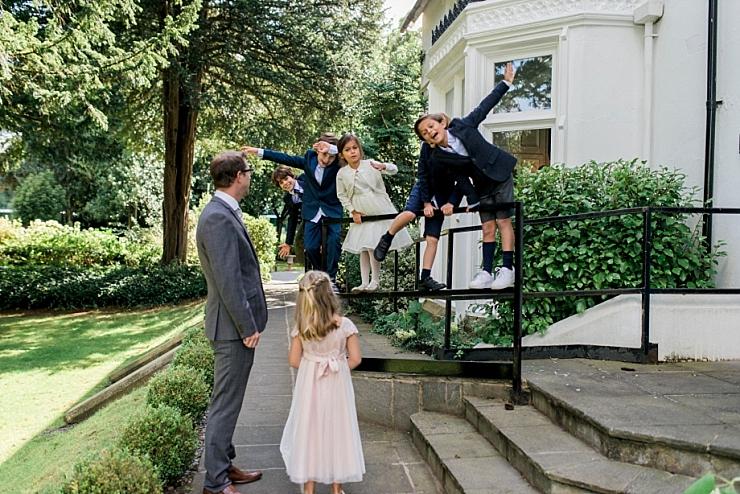 kids at didbury house wedding