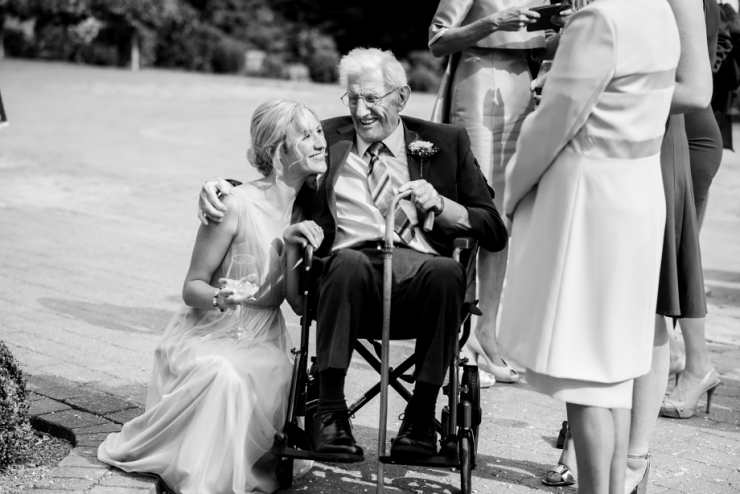 grandad at wedding