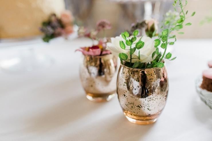 gold vases