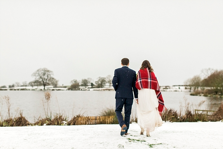 snowy wedding in cheshire