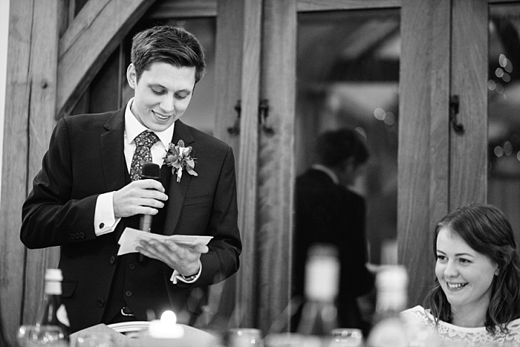groom speech at sandhole