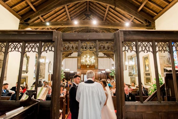 wedding at rivington parish church