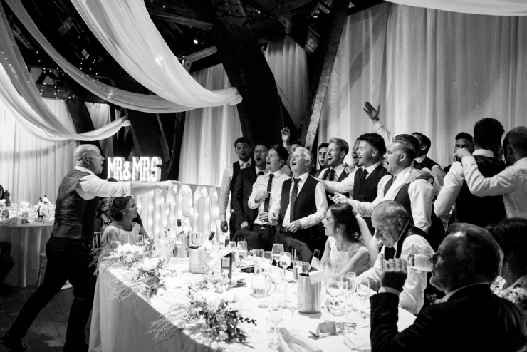 rivington barn wedding fun