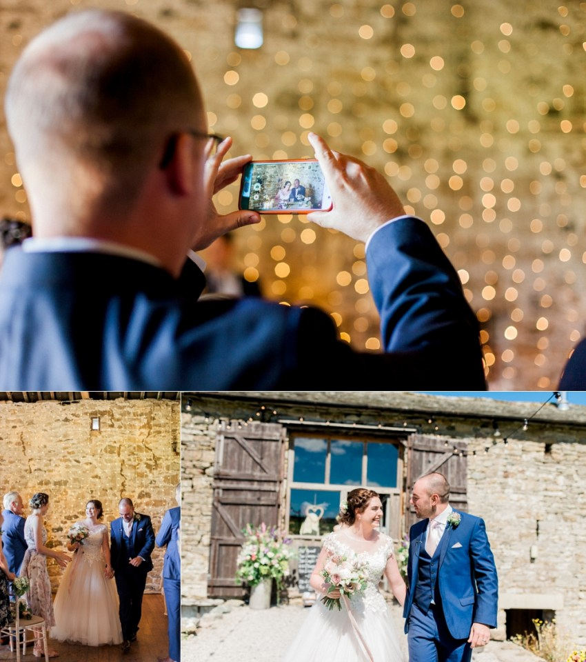 barn wedding in the lake district