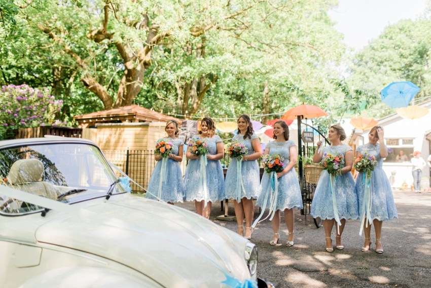 bridesmaids at spring cottage