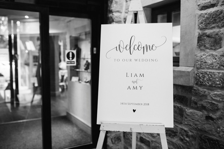 wedding welcome sign Stanley House