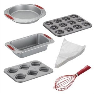 Cake Boss Baking Essentials Set: Pans, Icing Bags & Balloon Whisks