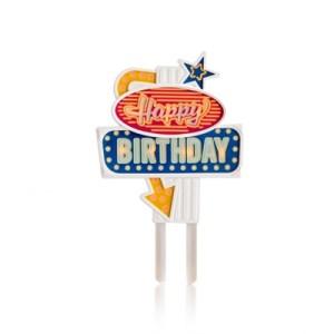Flashing Cake Topper Happy Birthday