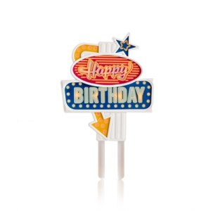 Flashing Cake Topper Happy Birthday
