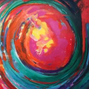 Poussière d'étoile, acrylique sur toile