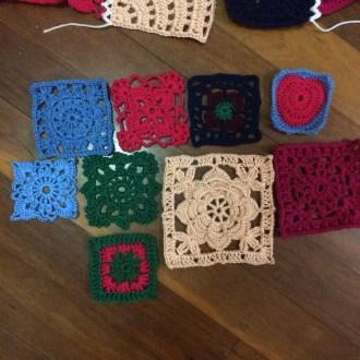 Patchwork granny square blanket