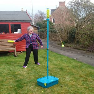 Playing swingball