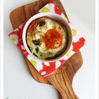 Bacon-wrapped Baked Eggs with Spinach and Cheese