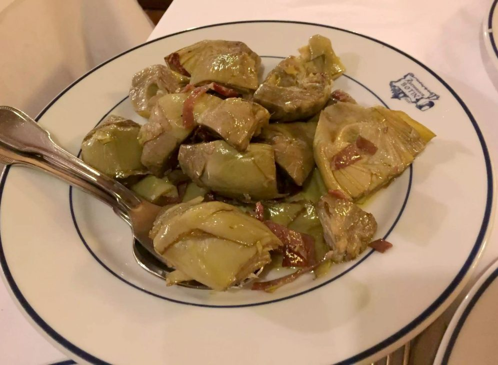 Restaurante Botin Guinness Book of records Madrid Birthday Artichokes Jamon Oldest