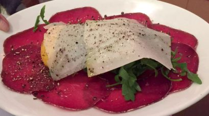 Ciao Bella Bloomsbury London Italian Restaurant Family Birthday Bresaola Parmesan Rocket