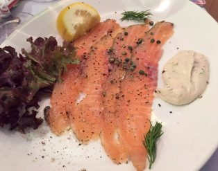 Ciao Bella Bloomsbury London Italian Restaurant Family Birthday Marinated Salmon Dill Lemon