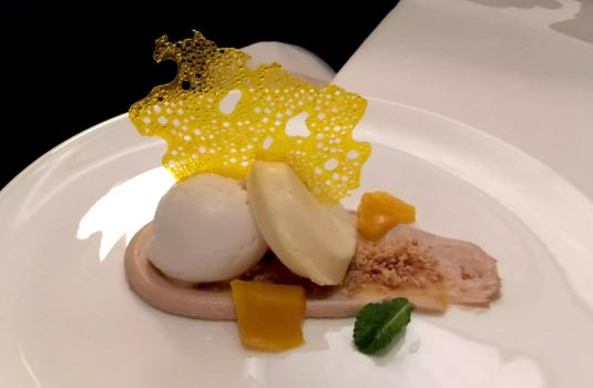 German Gymnasium D&D Kings Cross London Birthday Dinner Restaurant Cheesecake Deconstructed Tropical Fruit Coconut Passionfruit