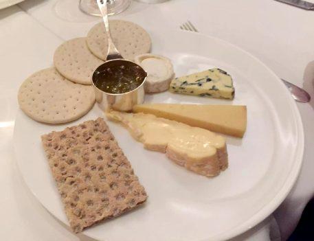 German Gymnasium D&D Kings Cross London Birthday Dinner Restaurant Cheese Plate Fig Jam Mustard Blue Goat