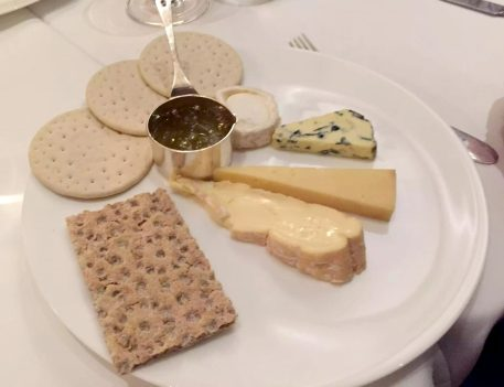 German Gymnasium D&D Kings Cross London Birthday Dinner Restaurant Cheese Plate Fig Jam Mustard Blue Goat