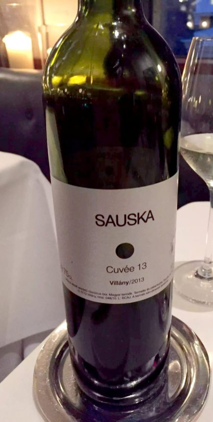 German Gymnasium D&D Kings Cross London Birthday Dinner Restaurant Sauska Red Wine Cabernet Sauvignon Franc Balufrankisch