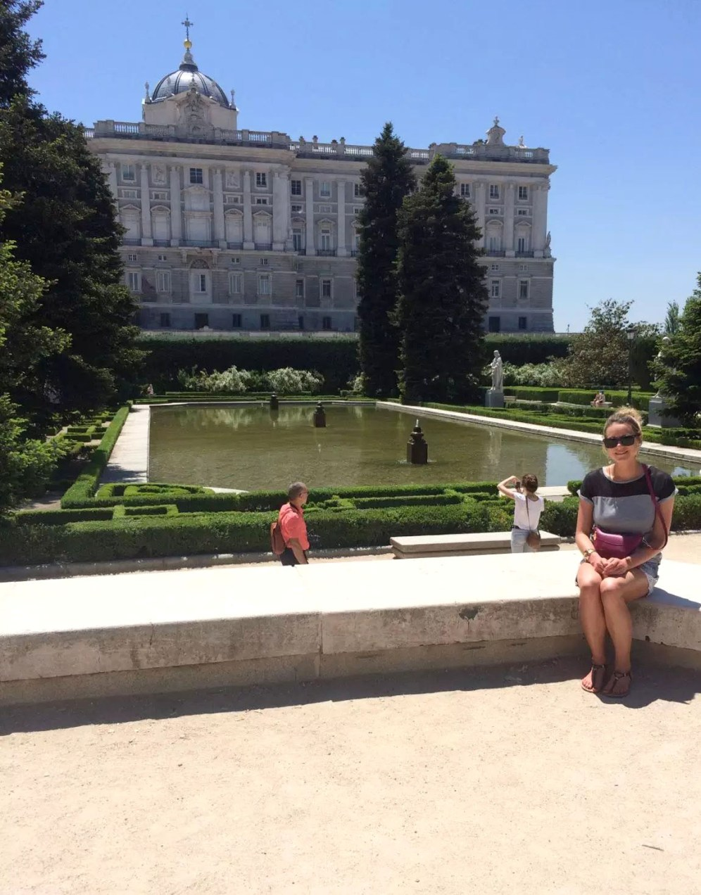 Madrid Sunshine Palcio Real de Madrid Walking Birthday Fountain Gardens Maze