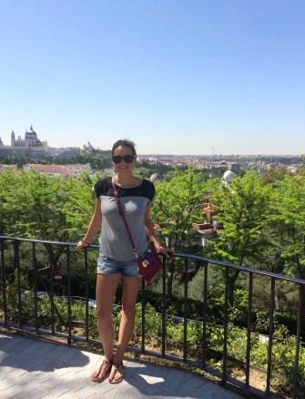 Madrid Sunshine Park del Oeste Walking Temple Debod palacio Real de Madrid
