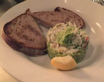Beach Blanket Babylon Restaurant Notting Hill Birthday Dinner Tables Dining Room Cosy Romantic Crab Avocado Sourdough