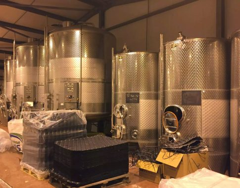 Bolney Wine Estate Sussex Tasting English Vineyard Valentines Sparkling Lunch Vines Grapes England Steel Fermentation Tanks
