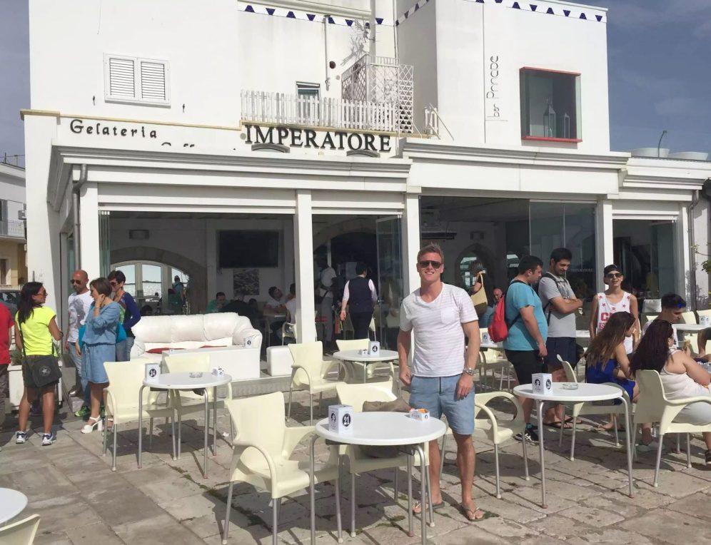 Puglia Italy Porto Cesaro Sea Toes Clear Crystal Water Sunshine Marina Bar Imperatore
