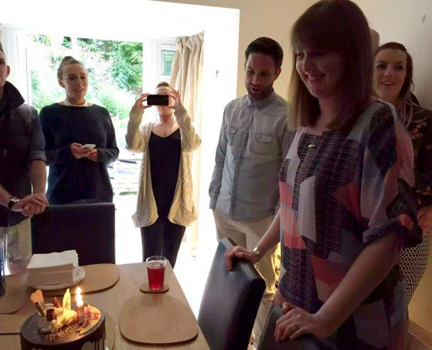 Kerry Birthday BBQ Essex Buckhurst Hill Meat Salads Outdoor Dining Friends Sunshine Happy Birthday Cake