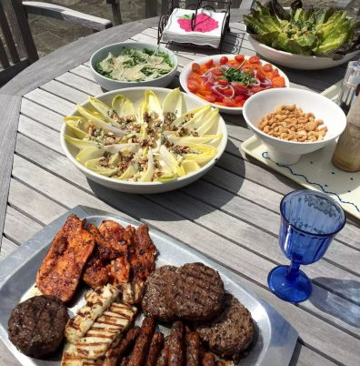 Fathers Day BBQ Marleys Family Sunshine Outdoor Dining Garden Celebration Meat Salads BBQ Lunch Healthy