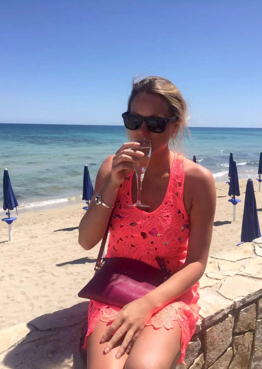 Torre Canne Puglia Italy Beach Sunshine Birthday Prosecco Sun Sand Sea Bubbles Princess