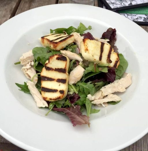 Skylark Cafe Restaurant Wandsworth Common Lunch Drinks Halloumi Salad Chicken Lentils