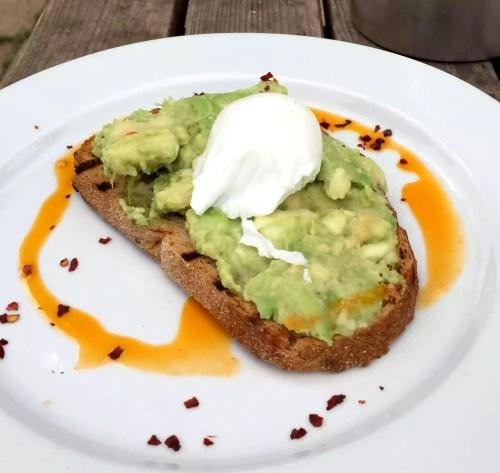 Skylark Cafe Restaurant Wandsworth Common Lunch Drinks Avoado Toast Poached Egg Chilli
