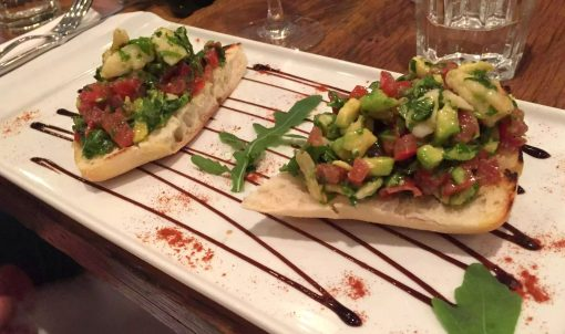 Regent's Canal Camden Walk Primrose Hill Hampstead Fish Cafe Bruschetta Avocado Tomato
