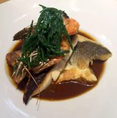 Great Northern Pub St Albans Wine Tasting Dinner Sea Bass Prawns Bisque Samphire
