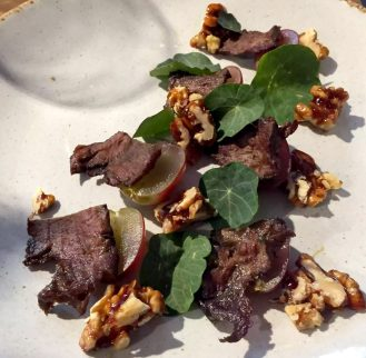 Great Northern Pub St Albans Wine Tasting Dinner Ox Heart Nasturtiums Walnuts Grapes