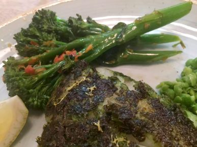 Lure Fish Kitchen North London Kentish Town Seafood Restaurant Pollock Salsa Verde Broccoli