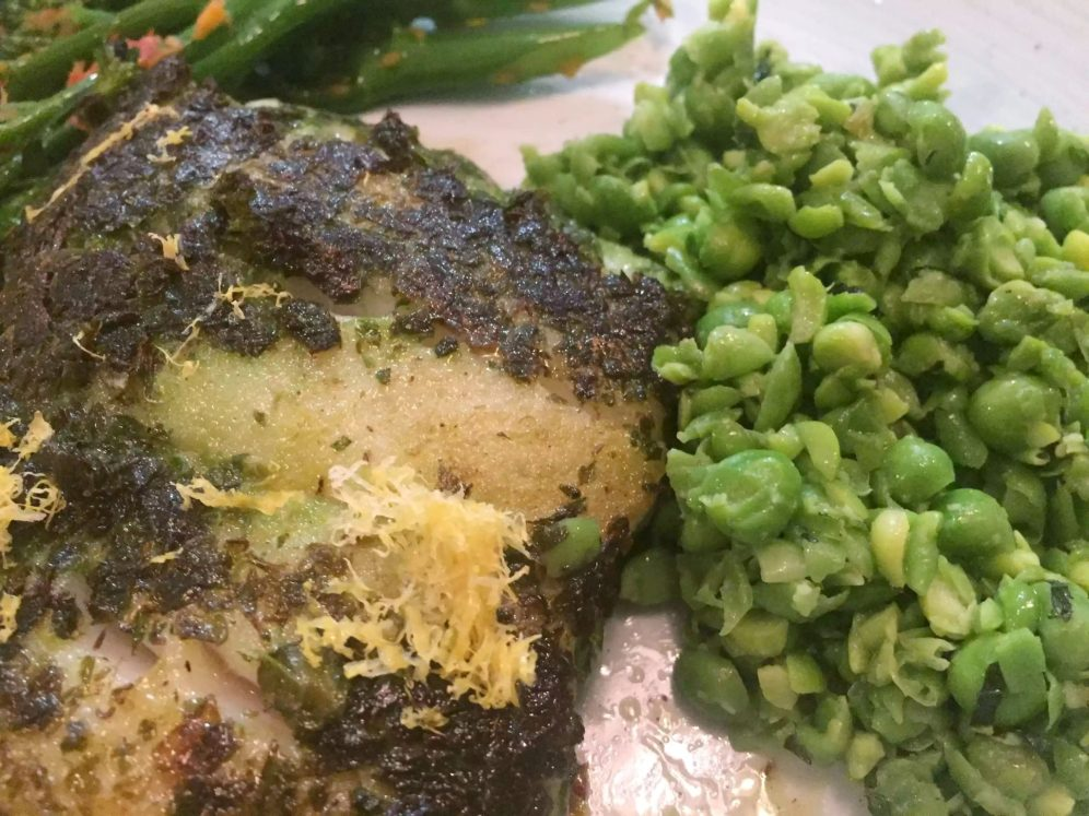 Lure Fish Kitchen North London Kentish Town Seafood Restaurant Pollock Salsa Verde Broccoli Minted peas