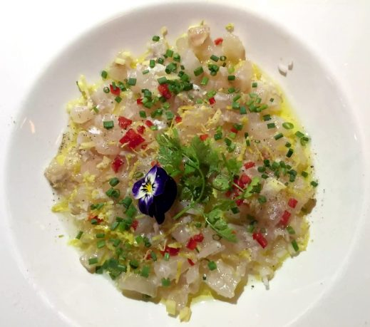 Balthazar Restaurant Covent Garden, London Sea Bass Ceviche Elderflower Lime
