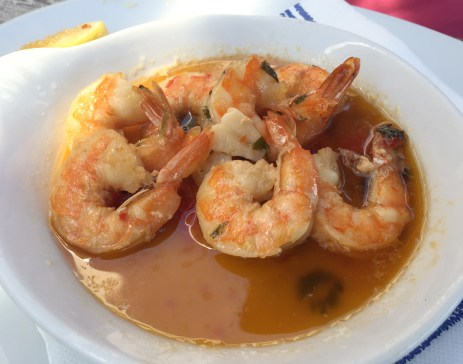Marias Restaurant - Praia de Garrao - Algarve - Portugal - Prawns Chilli Garlic Brandy