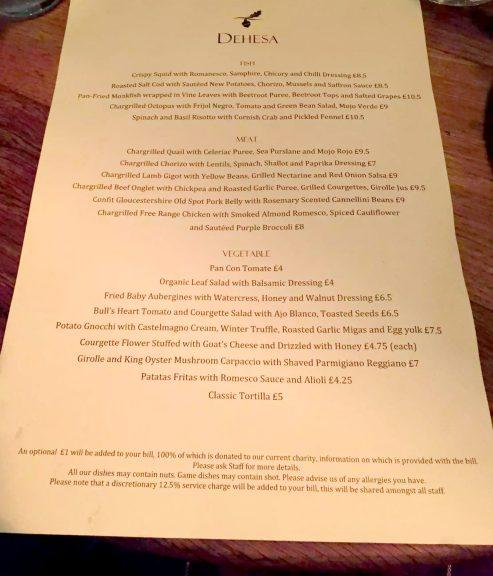 Dehesa Restaurant Review, Soho, London by Emma Eats & Explores (Spanish & Italian Tapas)