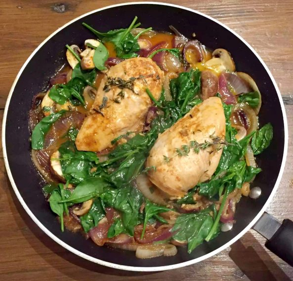 Paprika & Thyme Chicken Breasts in a White Wine & Butter Sauce by Emma Eats & Explores - SCD, Paleo, Grainfree, Glutenfree, Sugarfree