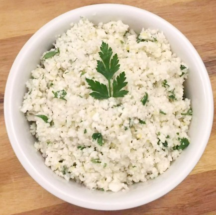 Lemon Cauliflower Rice with Coriander (Cilantro) by Emma Eats & Explores - Grain-Free, Gluten-Free, Refined Sugar-Free, Dairy-Free, Paleo, SCD, Primal, Whole30, Low Carb, Vegetarian & Vegan