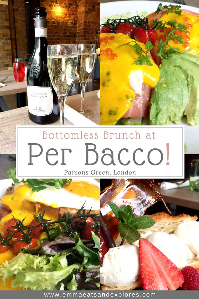 Bottomless Brunch at PerBacco – Parsons Green, London
