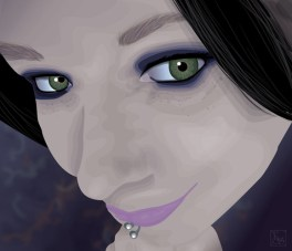 Stylized Vector Portrait - Amy