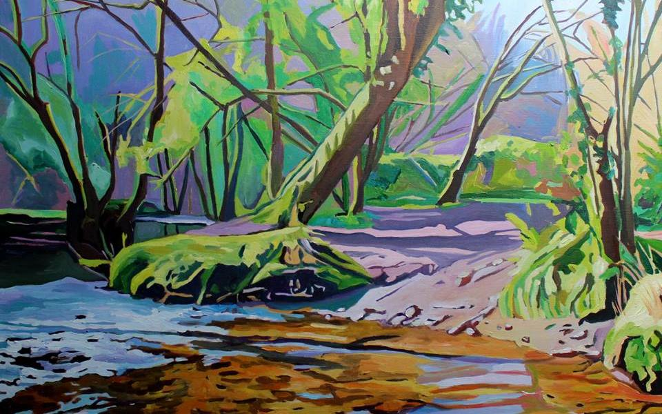 oil painting of woodlands