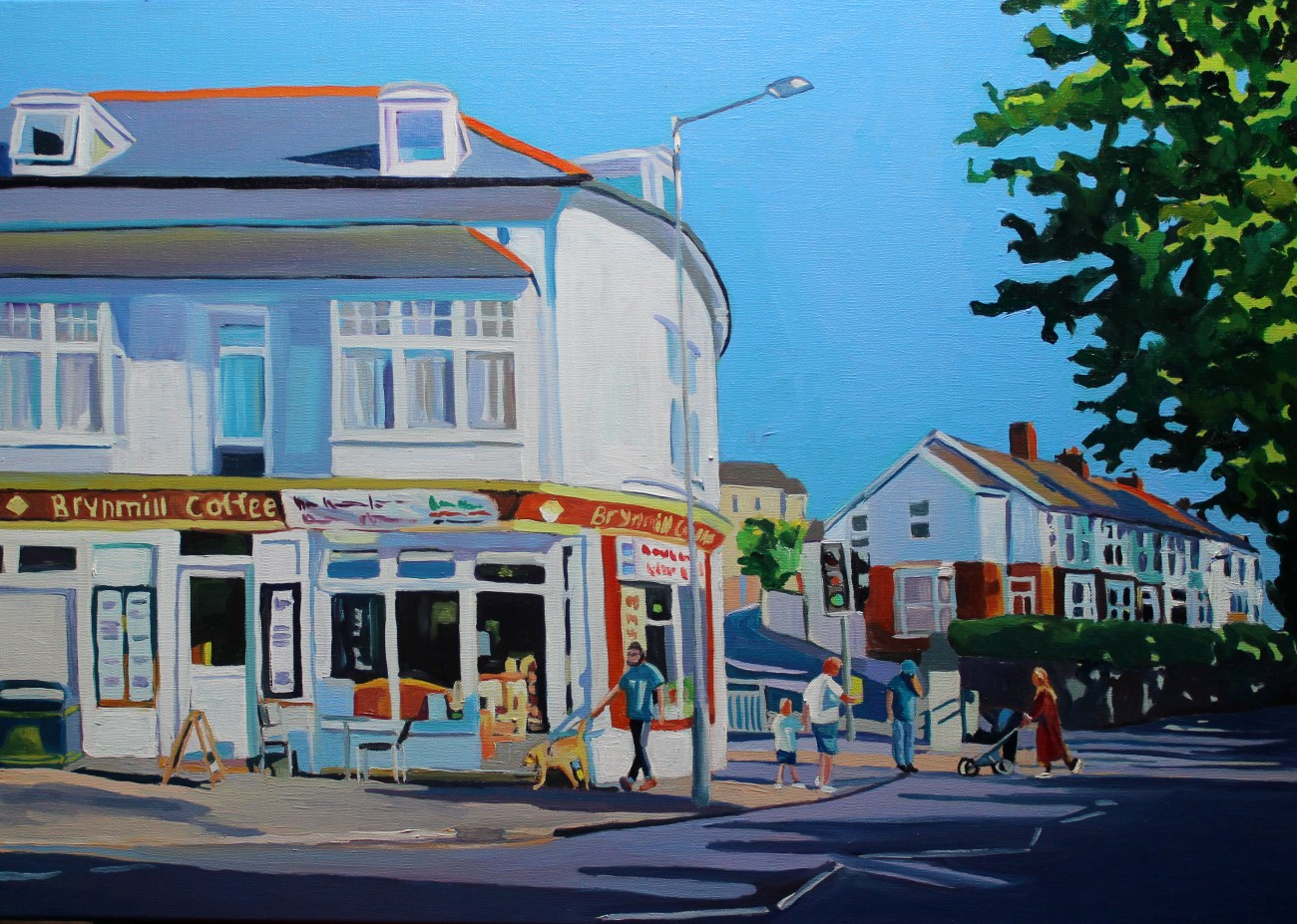 Outside Brynmill Coffee House 50x70cm